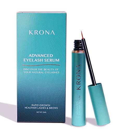 KRONA Cosmetic, KRONA Advanced Eyelash Conditioner Serum and Eyebrow Enhancer - Eyelash Growth Serum to Grow Lashes - Eyebrow Serum Rapid Growth - Healthier Lashes & Brows 5ml