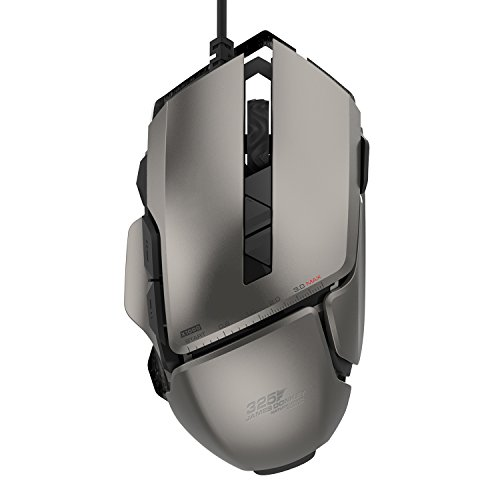 James Donkey 325RS Gaming Mouse 7200DPI Pixart PMW3330 Optical with Aluminum Alloy with Macro RGB Chroma Light 20 Million Click Switch Ergonomic Wired Gamer Mice for Windows Mac Laptop PC – Gray