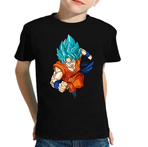 The Fan Tee Camiseta de NIÑOS Dragon Ball Goku Vegeta Bolas de Dragon Super Saiyan 072 5-6 años
