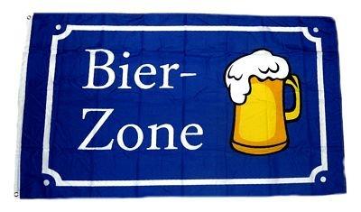 Fahne/Flagge Bier Zone 90 x 150 cm Fahnen Flaggen