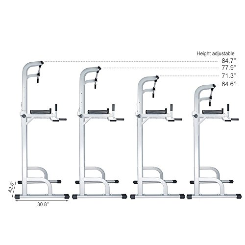 Product Image 3: Ainfox Power Tower, Capacity 550 Lbs Pull Up Bar Tower Dip Stands Fitness Gym Office