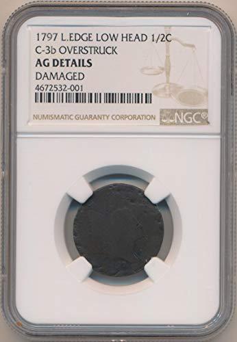 1797 P Liberty Cap Half Cent AG Details NGC
