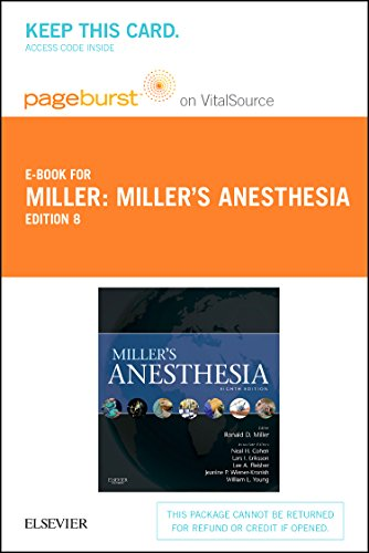 Miller's Anesthesia - Elsevier eBook on VitalSource (Retail Access Card)