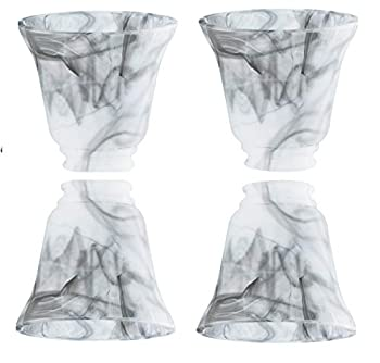 Dysmio Ceiling Fan Light Covers Marbleized Glass Bell Fan Globes Replacement Glass Fixture Replacement Glass Lighting Replacement Shade Height  4.50  Depth  4.75  Width  4.9  Fitter Size 2.25