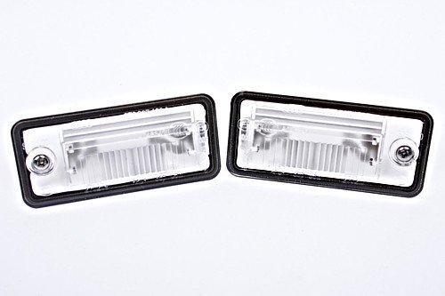 Coppia di lenti per targa, originali Audi A3 A4 A5 A6 C6 A8 D3 Q7 RS4 01-