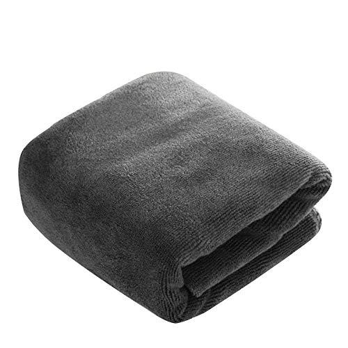 OJPOGHU Toalla fría, 400 g/Metro de Espesor 60 * 180 Toalla de baño Grande, Toalla de Lavado de Autos, Toalla de Limpieza-Gris_400 g 60 * 180 cm (Color : Gray, Size : 400g 60 * 180cm)