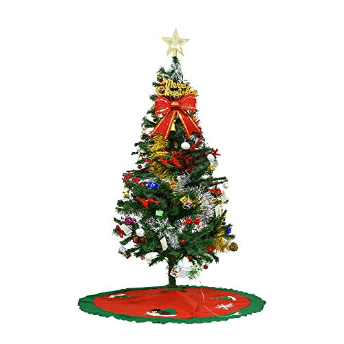 Bcamelys Albero di Natale 150 cm Stand Catena Luminosa a LED Pop up Albero di Natale Artificiale Albero di Natale Albero Abete Natale