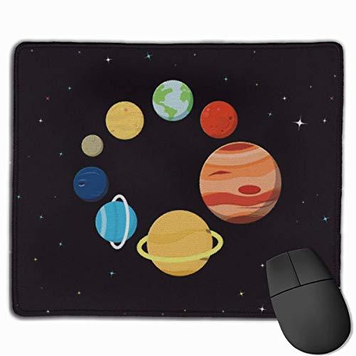 Cosmos Nebula Space Planets System-Mauspad, rutschfeste Mausmatte für Desktops, Computer, PC und Laptops, kundenspezifisches Mauspad