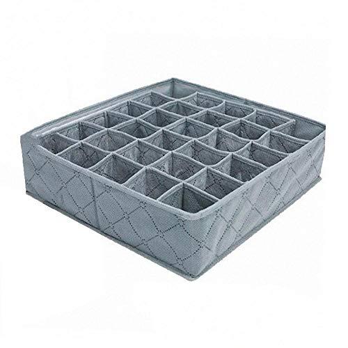 TOMMY LAMBERT Bambuskohle Falten 30 Cell Steckplätze Unterwäsche Socken Lagerung Teiler Veranstalter Box