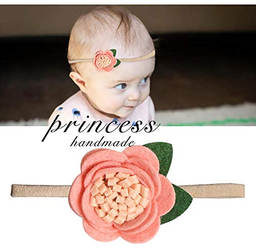 Baby Girl Headbands-Nylon Bows 10 Packs Mix Style Hair Band Accessories for Newborn Toddler and Little Baby (A)