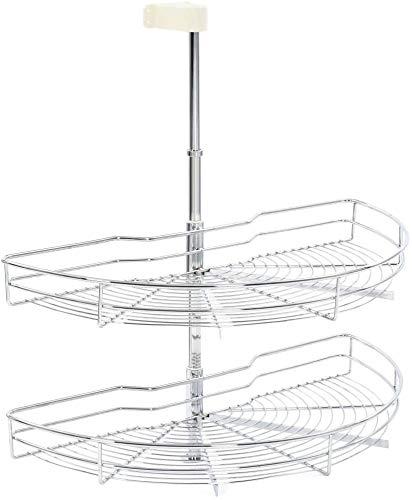 Capa de cocina multifunción 2 armario de cajones cesta de alambre cesta cesta de baja,Silver