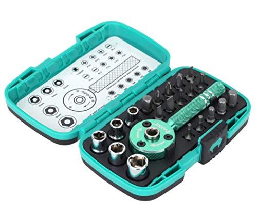 """HYCy 22 unids Multifuncional Palm Ratchet Wrench bit 1/4""""Driver Socket Set Destornillador eléctrico Kit de reparación de Herramientas eléctricas"""