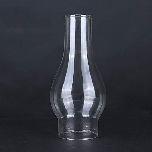 Rudxa Ersatz Glaszylinder für Lampe, transparent Glas, Höhe 16,5 cm, unterer Durchmesser 52 mm, Oberer Durchmesser 35mm, für Petroleumlampen, Öllampe und andere Lampen