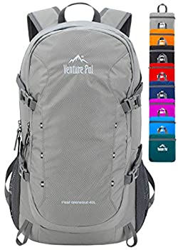 Venture Pal 40L Lightweight Packable Travel Hiking Backpack Daypack-Gray