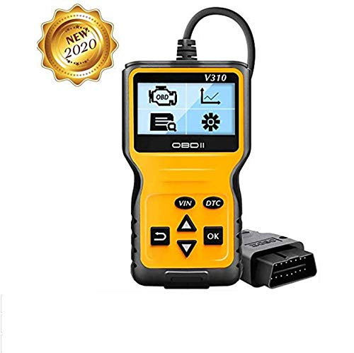 careslong OBD2 Auto Diagnostica, OBD Code Scanner V1.1 Il Lettore di Codici Motore Funziona su Tutte Le Vetture con modalità OBD2 / EOBD/Can e Interfaccia OBDII a 16 Pin, Compresa