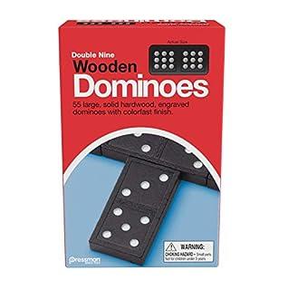 "Pressman 1621-12 Double Nine Wooden Dominoes, 5"" (B000F8R8CA) | Amazon price tracker / tracking, Amazon price history charts, Amazon price watches, Amazon price drop alerts"