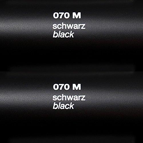 6,03€/m² Rapid Teck® Matt Folie - 070 Schwarz - Klebefolie - 5m x 63cm - Folie Matt Plotterfolie - Klebefolie selbstklebend - auch als Moebelfolie - Dekofolientage