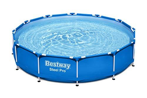 Bestway Steel Pro Frame Pool, 366 x 76 cm, ohne Pumpe, rund, blau