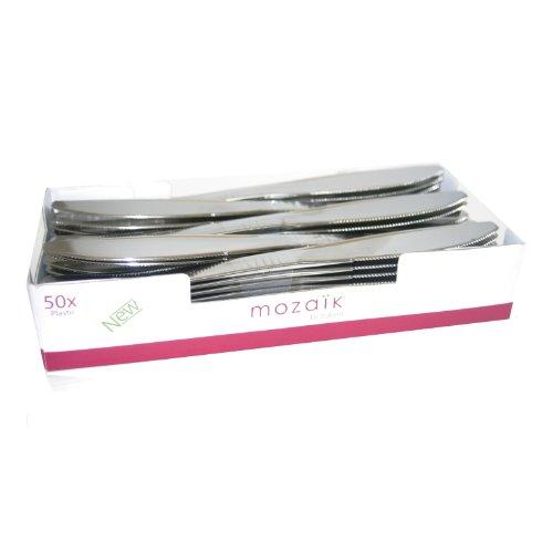 Ma Vaisselle Jetable - Couteau Couleur Inox 20Cm