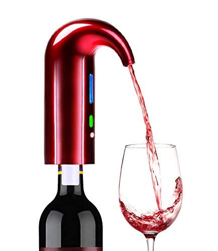 Aireador eléctrico de vino, decantador de vino portátil de un toque y bomba dispensadora, dispensador automático multi-inteligente de vino con boquilla recargable por USB, accesorios de aireación
