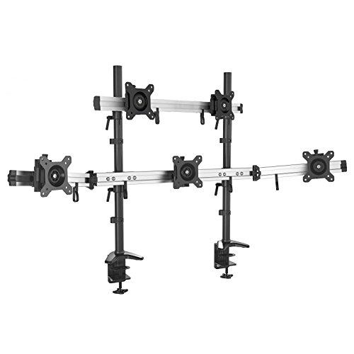 HFTEK 5-Fach-Monitorarm - Tischhalterung für 5 Bildschirme von 15 – 27 Zoll mit VESA 75/100 (MP235C-N)