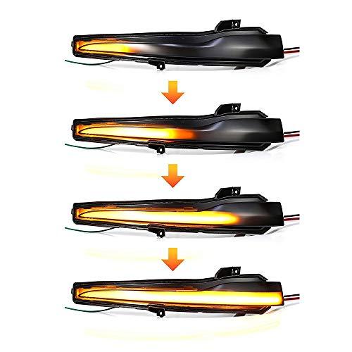 NO LOGO XW-Turn Signal, 2pieces Auto Rückspiegel Anzeige-LED Dynamische Blinkerlicht for Mercedes Benz C E S-Klasse W205 W213 W222 W217