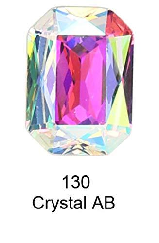 K9 Cristal Rectangle Octagon strass Strass pour vêtements nail art Strass couture Pointback Verre Bling Fantaisie cristal, 130,10 14mm12pcs