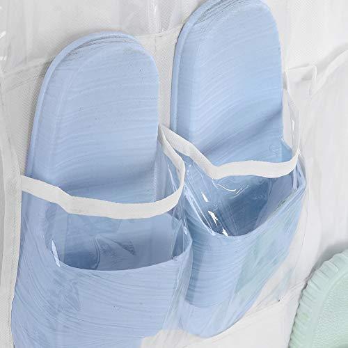 Kudoo Bolsas de Almacenamiento Colgantes, Organizador de Zapatos Colgante Transparente, Cuarto de baño para despensa de Armario