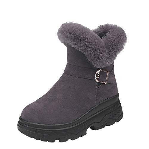 BIBOKAOKE Mode Plateauschuhe Reißverschluss warm halten Damen Schneestiefel Flache Schuhe Outdoor Sport Kurzes Bootie Winterstiefel