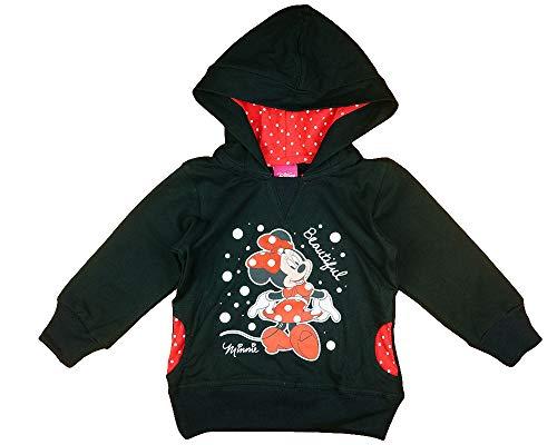 Mädchen Kapuzen-Pullover-Jacke-Pulli mit Minnie Mouse, Disney, 2 3 4 5 Jahre, Langarm in Größe 80 86 92 98 104 110 116 in Rot gepunktet (Modell 3, 86)