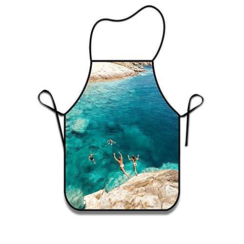 N\A Maschinenwaschbare haltbare Schnur Griechenland Hellas Schürze für Frauen & Männer Grillen, Kochen, Arbeiten, Grillen, Backen, Basteln