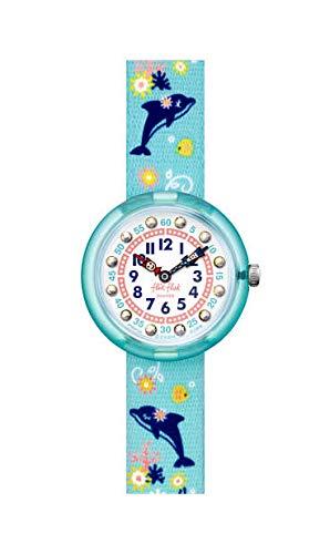 Flik Flak Mädchen Analog Quarz Uhr mit Kunststoff Armband FBNP124