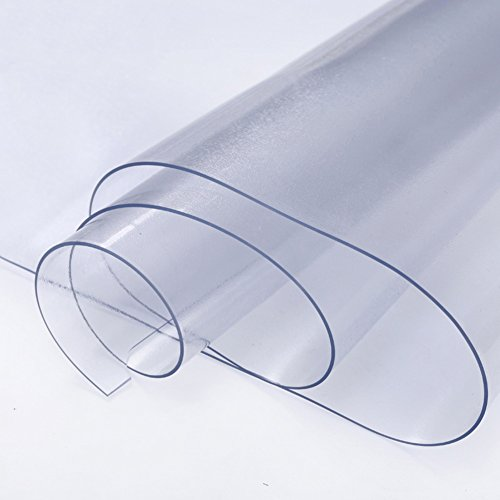 décoratifs Rugs PVC Pouvez Couper Transparente Tapis Nappe Table Basse étanche Tapis de Sol Chaise de Bureau pivotant Protection de Sol Pad, a, 60x100cm(24x39inch)