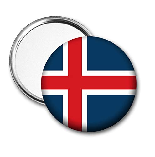 IJsland Vlag Pocket Spiegel voor Handtas - Handtas - Cadeau - Verjaardag - Kerstmis - Stocking Filler - Secret Santa
