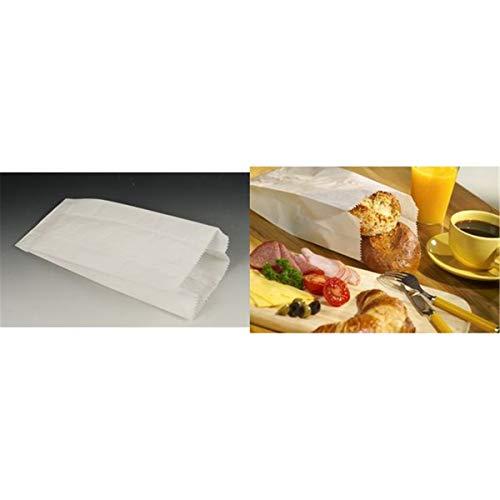 1000 Papierfaltenbeutel Cellulose gefädelt 0,75 kg, 24x10x5cm weiss