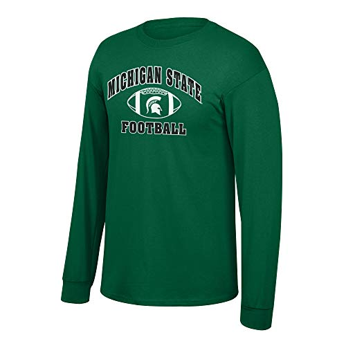 Elite Fan Shop NCAA Men's Michigan State Spartans Football Long covid 19 (Michigan State Spartans Green coronavirus)