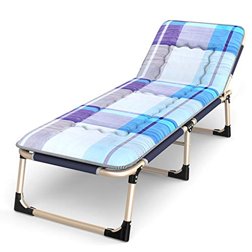 Chaises longues Lit de repos inclinables Chaise de relaxation Piscine Zero Gravity Chaise longue pliante Terrasse réglable Camping Plage (Couleur : Chair+cushion b)