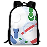 TRFashion Summer Flip Flop Hat Unisex Unique Backpack School Casual Sports Book Bags Durable Oxford...