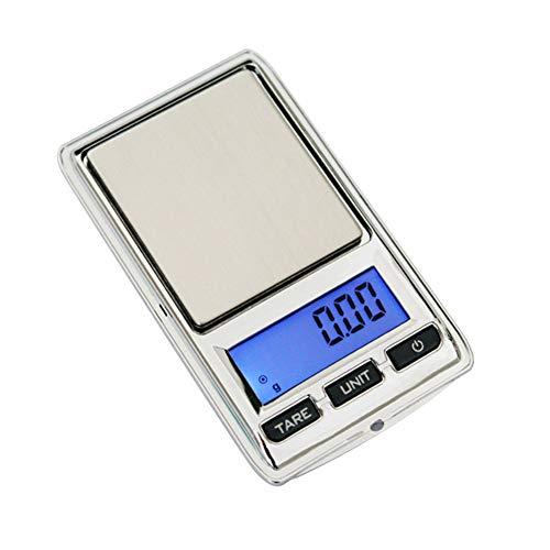 Whiie891203 100 g / 0,01 g 200 g / 0,01 g Mini Digital LCD elektronische Waage Schmuck Silver 200g/0.01g