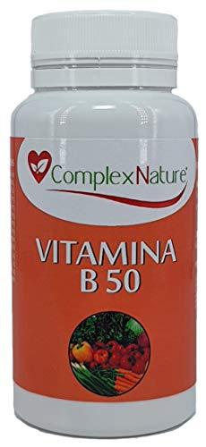 Vitamina B50 ComplexNature Alta Potencia 1 Toma Diaria ( 60 Capsulas), 100% Vegano, Sin Gluten, Sin Soja, No GMO, Capsula Vegetal