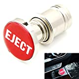 "iJDMTOY Sports Red ""Eject"" Push Button Design Car Cigarette Lighter Plug Cover, Cool Replacement Universal Fit Compatible With Car SUV Truck RV"