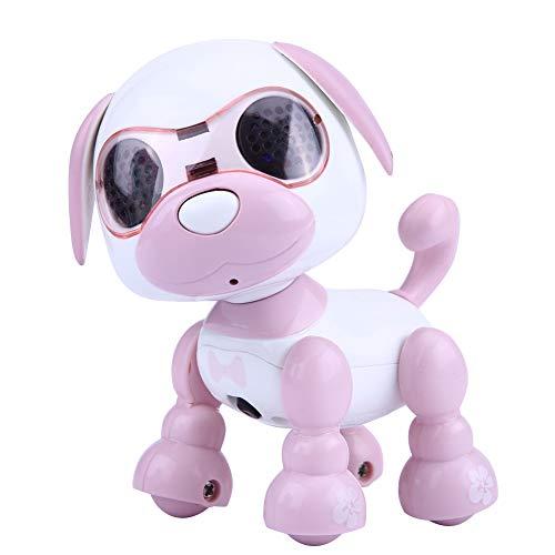 Tbest Juguete para Perros Robot, niños, niños, Robot Interactivo, Sonido para Caminar, grabación de LED, Regalo de Juguete Educativo(Rosado)