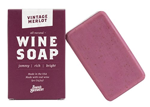 Vintage Merlot WINE SOAP | Great Gift for All Wine Lovers | All Natural + Made in USA