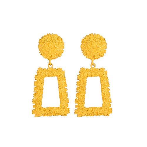 UINGKID Ohrstecker Mode Einfache Stilvolle AttraktiveNeue Mode Geometrische Trapez Ohrringe Lange Metall Ohrringe Frauen Ohrringe