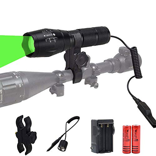 WINDFIRE Green LED Light 300 Yards Tactical Flashlight Zoomable Spot...