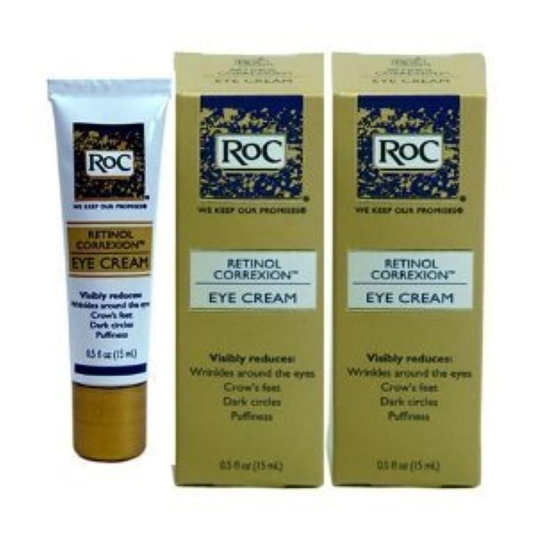 どうしたの韻のお買い得 ロック レチノール アイクリーム (2本セット) RoC Retinol Correxion Eye Cream, 15ml x 2【平行輸入品】