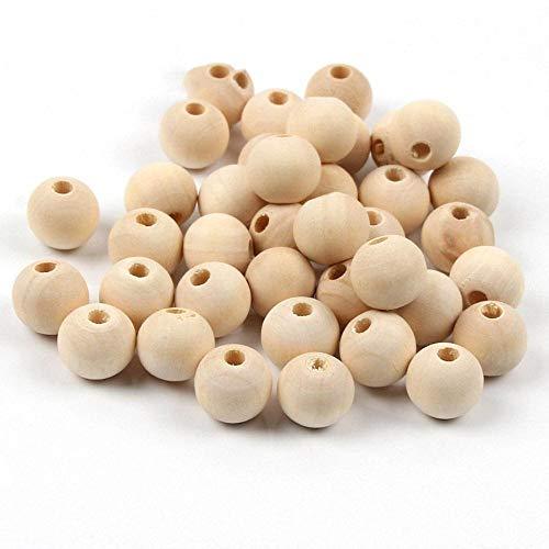 DIY 4/6/8/10/12/14/16/18/20/25/30/40 / 50mm Natuurlijke bal ronde houten kralen Eco-vriendelijke loodvrije houten kralen voor het maken van sieraden