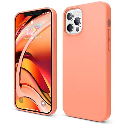 Hikissny Silicona Líquida Funda para iPhone 8 Plus Case, Funda Silicona líquida de Goma Compatible con iPhone 8 Plus Cover, Protección con Forro de Microfibra (Naranja)
