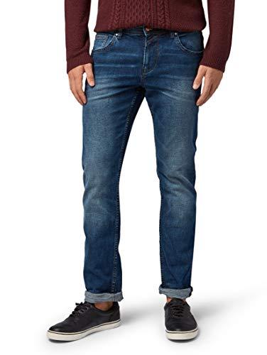 TOM TAILOR Denim Jeanshosen Aedan Straight Jeans Blue Denim Col. 10281, 27/32