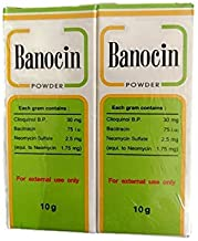 2 X Banocin Antibiotic Powder - Infected Cuts Wounds T Free Shipping